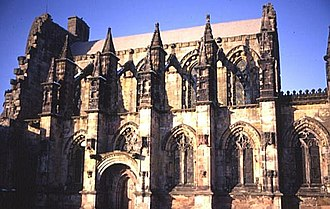 Scheduled monument - Rosslyn Chapel is an intact church, though only the unused sections are protected by scheduling
