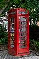 Rote Britische Telefonzelle vom Typ K6 Modelljahr 1936 als öffentliche Bibliothek in Limburg.jpg