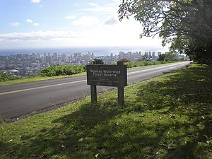 Tantalus-Round Top Road - Round Top Drive view of Waikiki