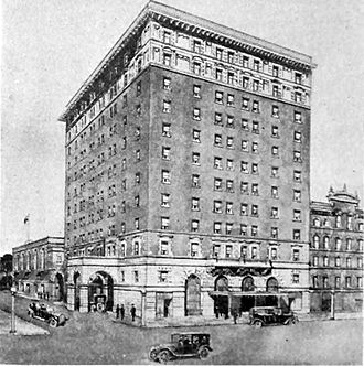 "Royal Connaught Hotel - This photo is from a 1917 advertisement which described the Royal Connaught as ""Hamilton's New Fireproof Hotel"""