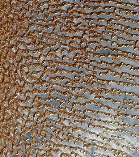 Rub' al Khali (Arabian Empty Quarter) sand dunes imaged by Terra (EOS AM-1).jpg