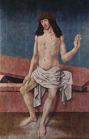Rueland Frueauf the Elder - Christ, Man of Sorrows by Rueland Frueauf the Elder, Alte Pinakothek, 1500