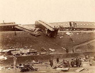 Borki train disaster - Image: Russian imperial train crush 1888