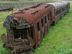 Image of rusting train
