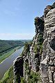 Sächsische Schweiz – Elbsandsteingebirge – Basteifelsen über dem Elbtal - panoramio.jpg