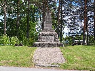 Battle of Ratan and Sävar - War memorial of Battle of Sävar.