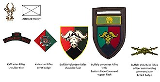 Buffalo Volunteer Rifles - SADF era Buffalo Volunteer Rifles insignia