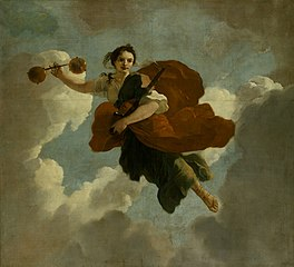 Justitia : Allegorische voorstelling van de verzorging van leprozen en onnozelen