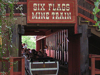 Runaway Mine Train (Six Flags Over Texas) Roller coaster at Six Flags Over Texas