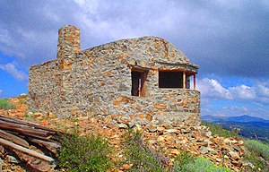 Fire lookout - SPRR fire lookout station built in 1909 on Red Mountain above Cisco, CA. (abandoned 1934)