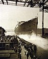 SS Bismarck being launched, Hamburg, Germany, June 20, 1914 (28115073051).jpg