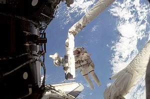 STS-108 spacewalk