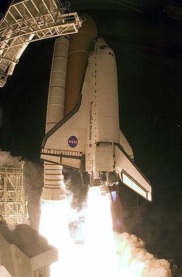 Lancering van spaceshuttle Endeavour voor missie STS-126 (d.d. 14 november 2008)