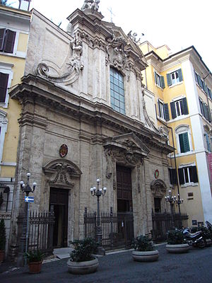 Sant'Antonio dei Portoghesi - Façade of the church of the National Church in Rome of Portugal.