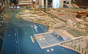 Saadiyat Island - Scale model of proposed Saadiyat Island development.