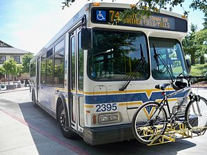 Sacramento Regional Transit District - Sacramento Transit Bus at Mather Field/Mills LRT Station