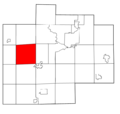 Saginaw County Michigan townships Fremont highlighted.png
