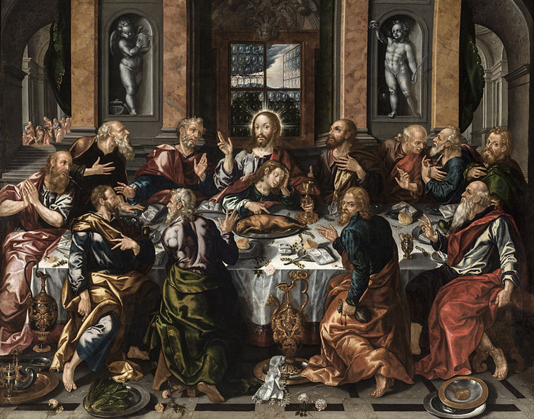 Archivo:Sagrada Cena, por Alonso Vázquez.jpg