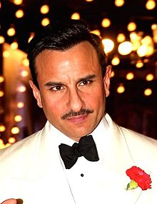 Saif Ali Khan looking away from the camera