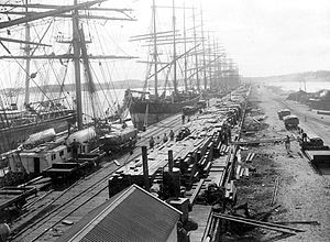 Fremantle Lumpers Union - Sailing ships Fremantle Harbour 1899