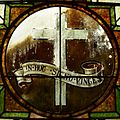 Saint Agnes Cathedral (Springfield, Missouri) - stained glass, In Hoc Signo Vinces.jpg