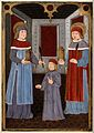 Saint Cosmas and Saint Damian with another figure. Gouache p Wellcome V0033177.jpg
