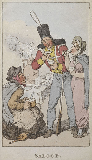 Saloop - Image: Saloop Rowlandson's characteristic Sketches of the Lower Orders (1820) BL