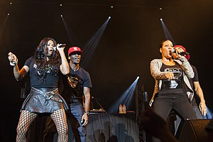 Salt-N-Pepa - Salt-N-Pepa performing at the Canberra Theatre, 2013.