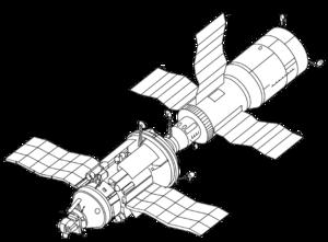 Kosmos 1267 - Image: Salyut 7 and Cosmos 1686 drawing