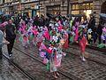 Samba girls from União da Roseira at Helsinki Samba Carnaval 2016.jpg