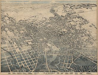 San Antonio - Lithograph of San Antonio in 1886