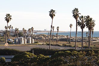 San Buenaventura State Beach - Image: San Buenaventura State Beach from U.S. Route 101 2015 01 04