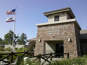 Scripps Ranch, San Diego - San Diego Fire Station 37 on Spring Canyon Road