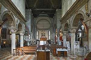 San Giacomo dell'Orio - General view of the interior of the church.