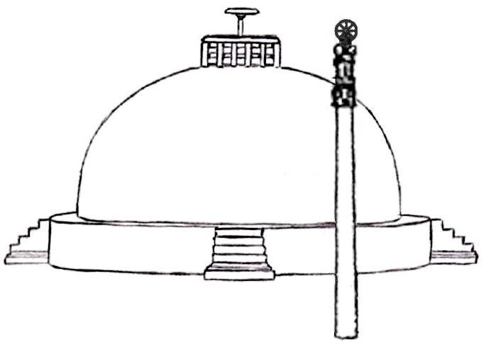 Sanchi Great Stupa Mauryan configuration