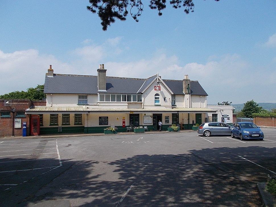 Sandown Railway Station, Isle of Wight, UK