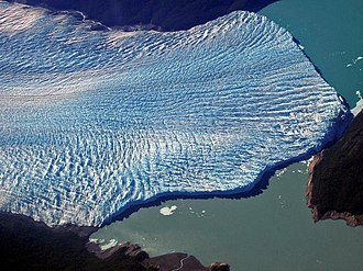 Perito Moreno Glacier - Aerial view of the glacier, taken two weeks before the 2004 rupture