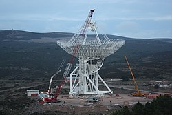 The Sardinia Radio Telescope (SRT) under construction