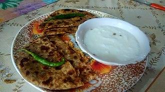 Bihari cuisine - The sattu-Paratha