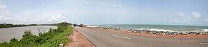 Maravanthe - Image: Saurpanika river Arabian Sea Kundapur