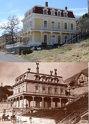 Virginia City Historic District (Virginia City, Nevada) - Image: Savage Mansion, 1870 & 2007
