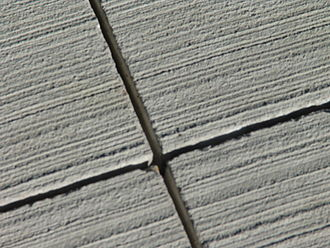 Expansion joint - Saw cut control joints in concrete