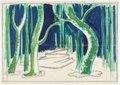 Scenografiskiss av Isaac Grünewald - En midsommarnattsdröm - SMV - DTM 1952-0338.tif