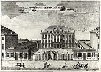 Odd Fellows Mansion, Copenhagen - The Schimmelmann Mansion in the middle of the 18th century