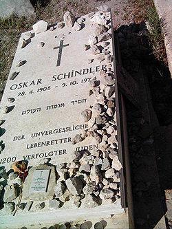 Schindler sírja, Jeruzsálemben.