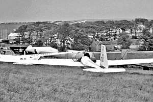Schweizer SGS 2-25 - The sole SGS 2-25 at Great Hucklow, Derbyshire, England during the 1954 World Gliding Championships