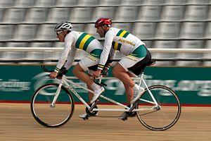 Assistive technology in sport - Image: Scott Mc Phee and Kieran Modra riding 02