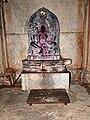 Sculpture of Yakshi Padmavathi at Akkana Basadi in Shravanabelagola.jpg