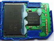 Platine einer SD-Speicherkarte
