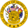 Offeecial seal o Mobile, Alabama